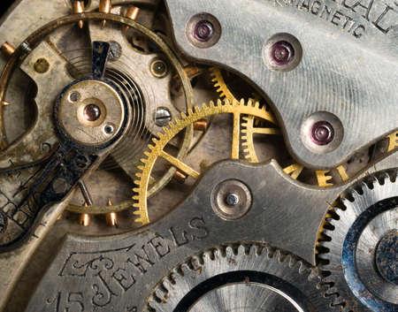 A single 15 jewel pocket watche detail inside gears Reklamní fotografie