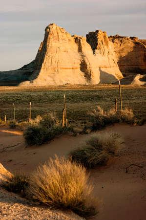 geological formation: Vertical composition desert southwest landscape sandstone rock foramtion