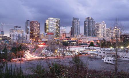 City landscape northwest city downtown urban landscape Stock Photo