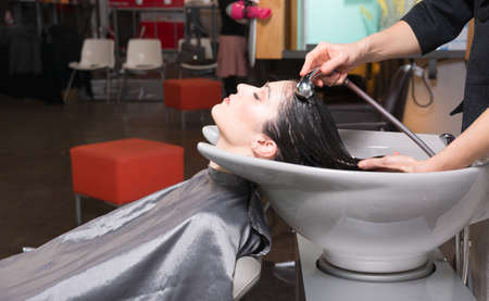 pedestal sink: A day at the salon starts with shampoo