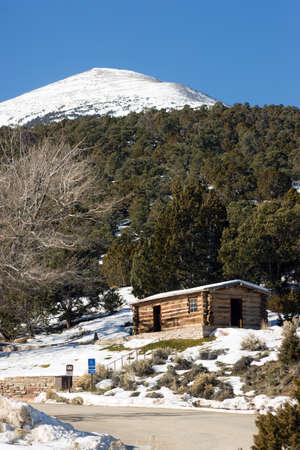 southwest usa: Historic Cabin Winter Day Great Basin National Park Southwest USA
