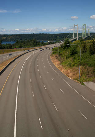 gig harbor: The Tacoma Narrows Bridge carries drivers form the mainland to Gig Harbor and the sports competition Peninsula.