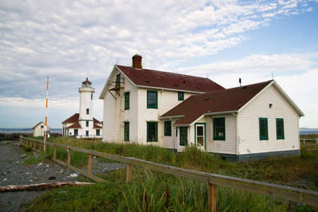 guard house: This lighthouse was built in the 1800s and automated in 1976