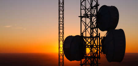 This Cellular Tower is situated high off the ground in Eastern Washington Stock Photo