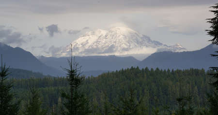 Hazy Atmospheric Conditions National Forest Mt Rainier photo