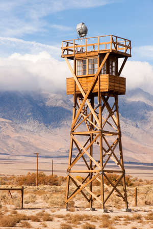 interned: Manzanar War Relocation Center was one of ten camps where Japanese American citizens and resident Japanese aliens were interned during World War II. Editorial