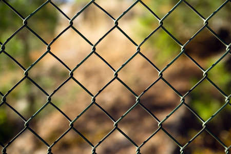 An ordinary chain link fence section