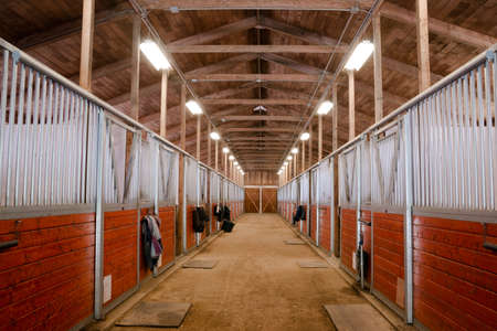 Horse Barn Tiersport Paddock Reit Ranch Racing Stable Standard-Bild - 37180898