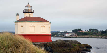 coquille: Its a typical grey day on the Pacific Coast Stock Photo