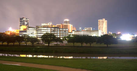 fort: A storm is passing over downtown Fort Worth overnight