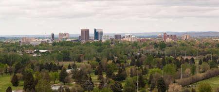Springtime scene hillside view Boise Idaho