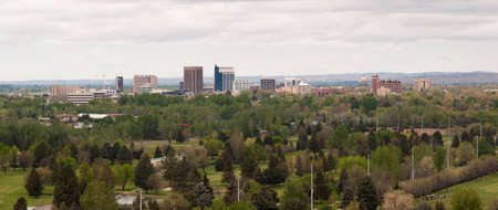 idaho: Springtime scene hillside view Boise Idaho