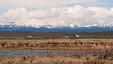oregon  snow: Fresh snow sits atop the Wallowa Mountains of Northeastern Oregon