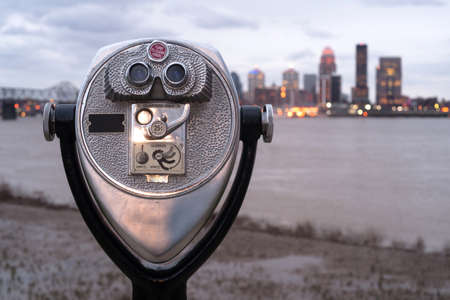Falls of Ohio State Park has a viewer installed to see the sights