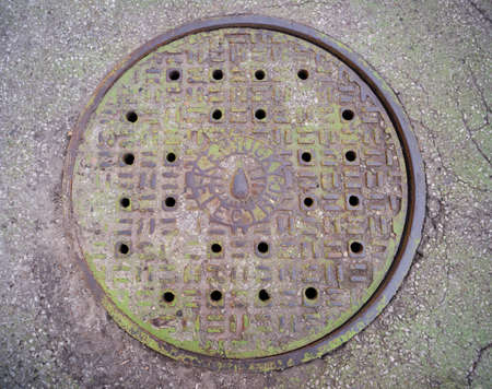 manhole cover: Sewer access hole manhole cover in Kentucky