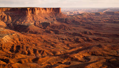 green river: Its a grand view from the Green River Overlook as the sun sets