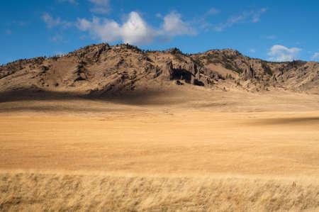 rugged: The rugged ranchland landscape of the upper northwestern United States Stock Photo