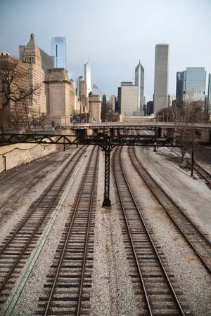 let go: Winter wont let go in the transit area of Chicago