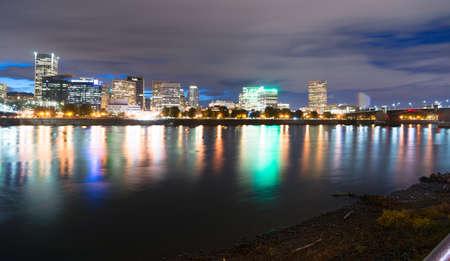eastbank: A dramatic night sky bubbles up over Portland Oregon