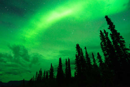 ionosphere: The Northern Lights appear in Wrangell St. Elias National Park