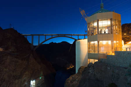Vista House overlooks the scene at the Hoover Dam