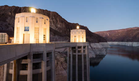 hydroelectricity: Lake Mead The Colorado River Hoover Dam Neveda Arizona