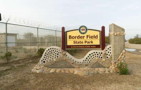 Border Field State Park Teken San Diego Californië Stockfoto - 52639789