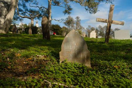 decease: Primitive Headstones Rural Cemetery Wood Marker