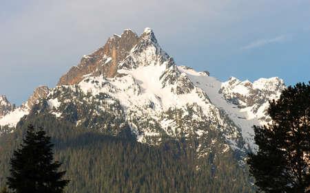 whitehorse: The tip of Whitehorse Mountain near Darrington Washington