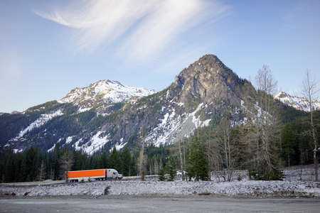 18 wheeler: Snow still sits falls in April on the pass