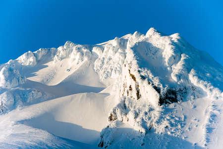 mount hood: Sunset Mount Hood Cascade Range Ski Resort Area