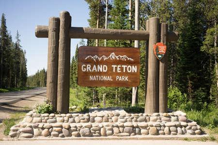 teton: Welcome Sign Grand Teton National Park United States