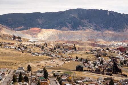 The Berkeley Pit Mine and Butte Montana 版權商用圖片