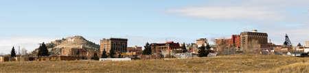 prospector: Una gran M para Montana en la ladera detrás de Butte Montana