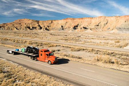 18 wheeler: Over The Road Long Haul 18 Wheeler Big Rig Truck Flatbed