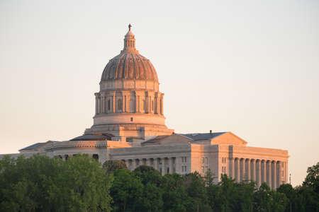 missouri: Jefferson City Missouri Capital Building Downtown Sunset Architecture
