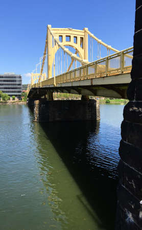 Also known as the Roberto Clemente Bridge this span takes people in and out of Pittsburg