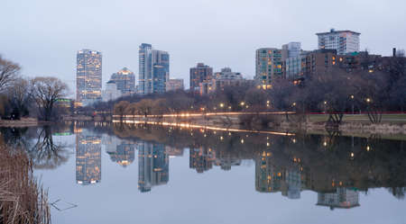 MILWAUKEE, WISCONSINUNITED STATES – APRIL 1: Most of the cities residents sleep as the sun comes up on the downtown waterfront from Veterans Park on 03302017 in Milwaukee, WI. Editorial