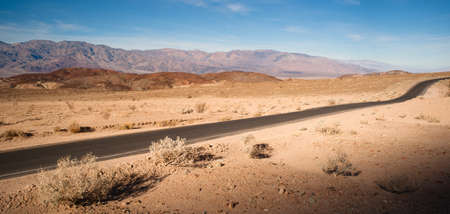 blacktop: Beautiful day clear blue skies in Death Valley