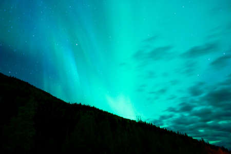 auroral: The Northern Lights appear in remote country also called the Aurora Borealis Stock Photo