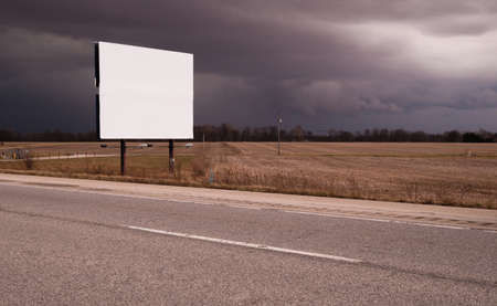 panels: Roadside Billboard Advertising Medium Dark Stormy Skies