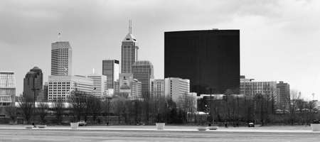 Downtown City Skyline Indianapolis Indiana USA