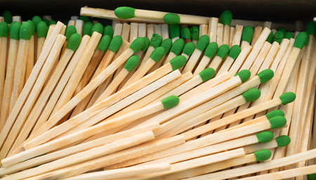 flint: Match Sticks to light your fire when needed Stock Photo