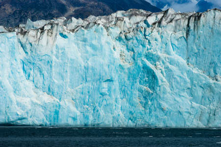 Glacier Ice Water Surface Marine Landscape Aquatic Wilderness Stock Photo
