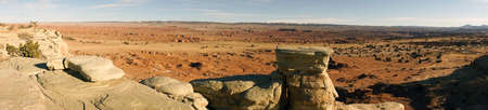 A high butte mesa overlook in Americas Southwest