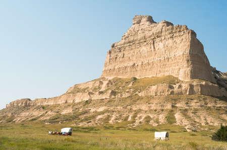 Een geologische attractie in het westen van Nebraska, Verenigde Staten Stockfoto