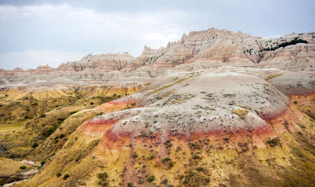Colorful geology in the Badlands of the upper midwestern united states north america Stock Photo