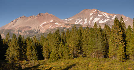 Mt SHasta and Shastina stand side by side in Northern California