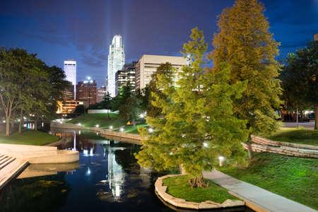 City features park waterfront downtown city skyline Omaha Nebraska