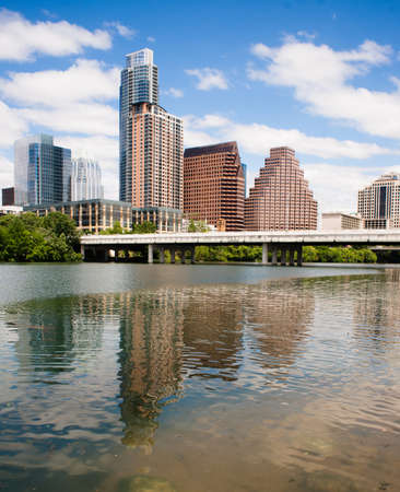 A beautiful day in the capital city of Texas at Austin with a riverfront view
